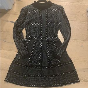 Black and white dress size: small